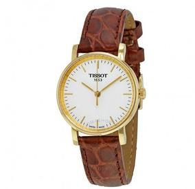 Relógio Tissot Feminino Everytime Branco/marrom/dourado Cour