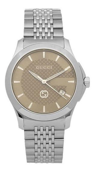 Relógio Gucci Masculino - Aço Inoxidável/intemporal Original