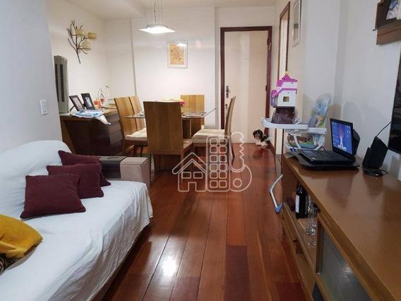Apartamento À Venda, 88 M² Por R$ 550.000,00 - Icaraí - Niterói/rj - Ap1262