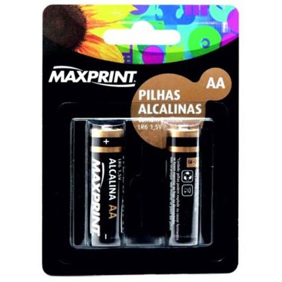Pilha Alcalina Aa 2 Un Maxprint 75633-9