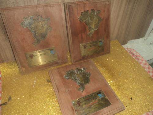Lote C/ 3 Trofeus Antigo Criadores Gado Anos 92 /leia Anunci