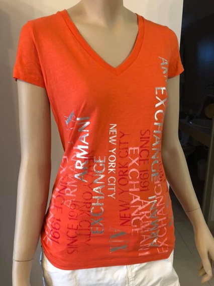 Remera Naranja Armani Exchange
