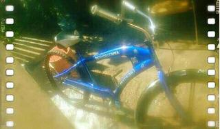 Bicicleta Americanchoper Azul Rodado 26
