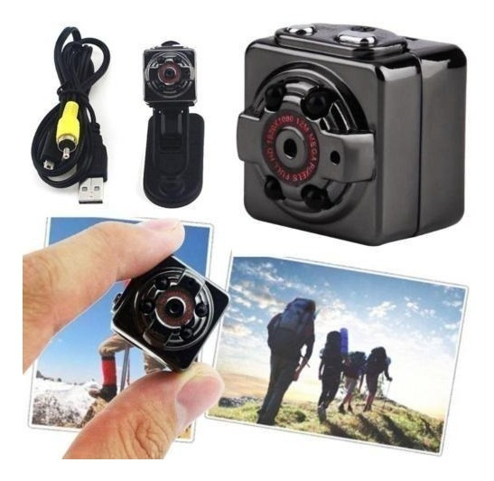 Mini Câmera Sq8 Dv 1080p Full Hd + Cartão De 32gb