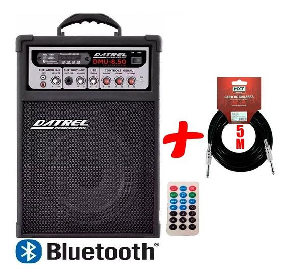 Caixa De Som Para Guitarra Dmu 8.50 Datrel Bluetooth +brinde