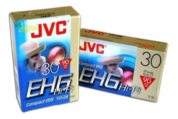 Fita Jvc Vhs-c Compact Vhs - Tc-30 Ehg Hi-f -nova Lacrada