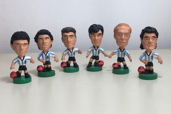 Lote 6 Muñecos Jugadores Futbol Coca Cola Cabezones 1998