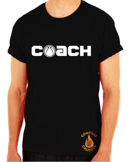 Playera Camiseta Remera Deportiva Mujer Hombre Unisex Coach Balon Basketball Baloncesto Basquetbol Basket Basquet