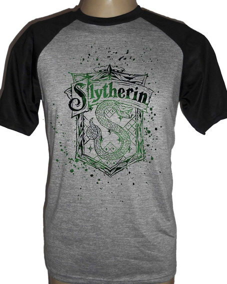 Camiseta Raglan Harry Potter Sonserina