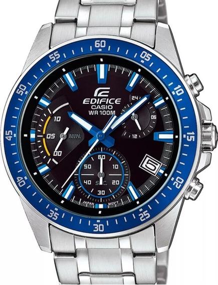 Relógio Casio Masculino Edifice Prata Azul Efv-540d-1a2vudf Original Nota Fiscal
