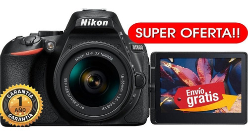 Camara Nikon Profesional D5600 24.2mp +lente 18.55mm Remate!