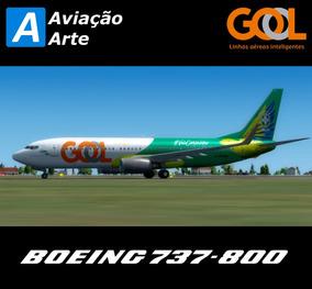 Aeronave Fsx - Boeing 737-800 Gol Pr-guk #voacanarinho