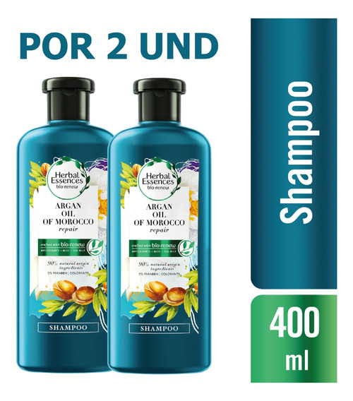 Shampoo Herbal Essences Bio:renew Argan Oil 400 Ml X2 Und