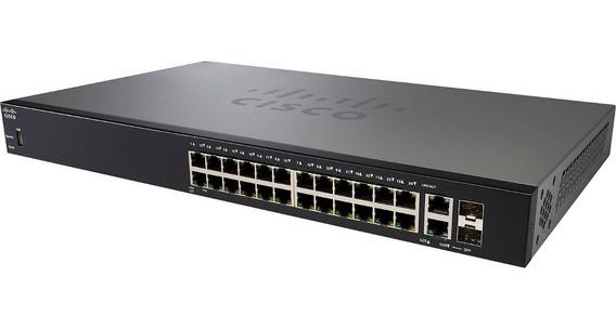 Switch Cisco Sb Semi Adm 24 Sf250-24 Poe 10/100 Sf250-24p-k9