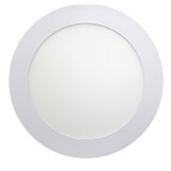 Luminaria Painel Led 100-240v Embutir 120 Redondo 6w 3000k