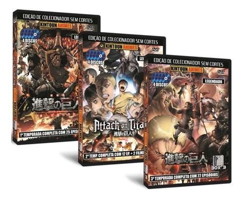 Attack On Titan/shingeki No Kyojin 3 Temporadas Completas