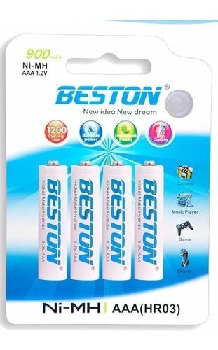 Pilas Bateria Beston Aaa Recargable 900mah X 4 Unidades