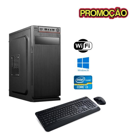 Cpu Desktop Core I3 4gb Hd 500gb Win10 + Brindes - Frete !!