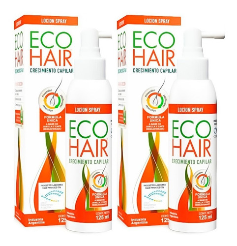 Imagen 1 de 3 de Eco Hair 2 Lociones Capilares Anticaida X125ml