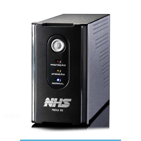 Nobreak Nhs Mini Iii 600va/300w Bivolt Preto 120v Ou 220v