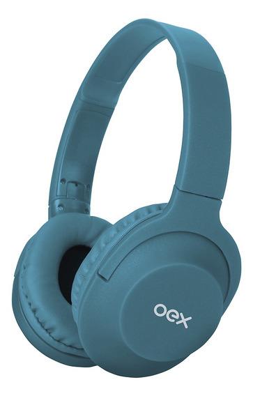 Fone Ouvido Bluetooth Headset Flow Turquesa Hands Free Oex