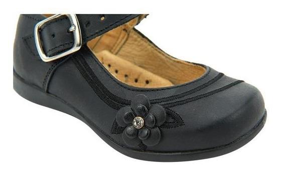 Zapato Valerina Niña Escolar Negro Mundo Terra 018380