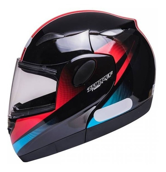 Capacete De Moto Robocop Racer Preto / Azul