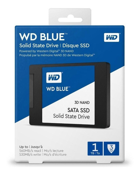 Wd Blue 1tb Ssd Solid State Drive Sata 6gbs 2.5 Wds100t1b0a