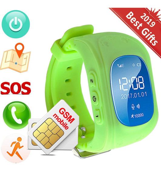 Reloj Smartwatch Niño Gps Verde Localizador Celular Glückluz