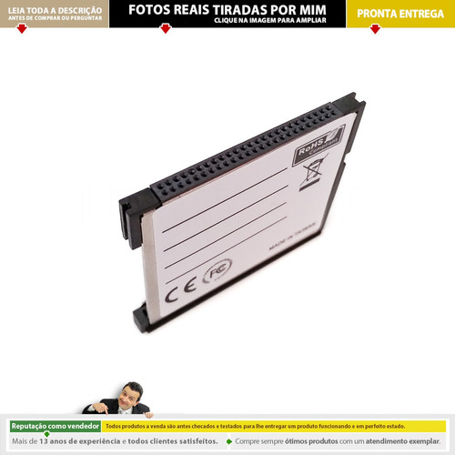 Imagem 1 de 7 de Adaptador Cartão Sdxc Sd Wifi Para Compact Flash Cf | 3rd C2