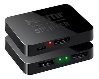 Splitter Full Hd Video Hdmi 1 Entrada X 2salidas Split 4k
