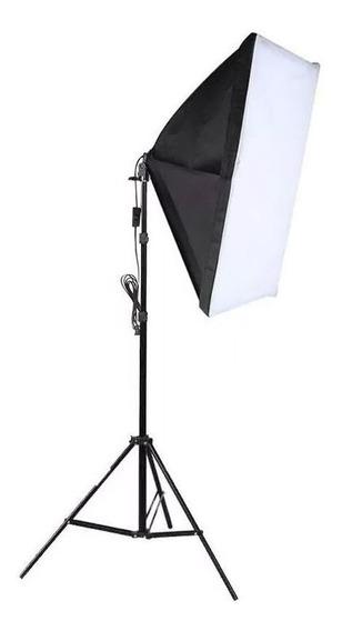 Kit Iluminação Estúdio Softbox E27 50x70cm Tripé 2m