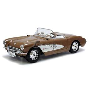 Miniatura Corvette 1957 Marrom Maisto 1/18