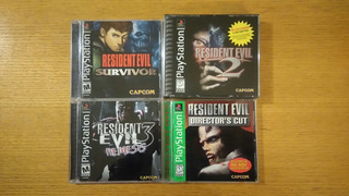 Resident Evil 1 2 3 Survivor Ps1 Ps2 Ps3 Playstation Lote