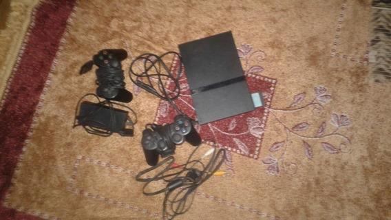 Playstation 2 Com Controles, Cartão De Memória E Jogos