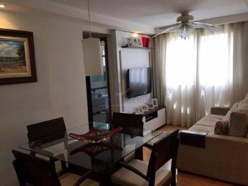 Imagem 1 de 13 de Apartamento Em Condomínio Padrão Para Venda No Bairro Engenheiro Goulart, 2 Dorm, 0 Suíte, 1 Vagas, 50 M.ap0813 - Ap0813