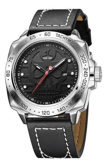 Relógio Masculino Weide Analógico Uv-1510 - Preto E Prata