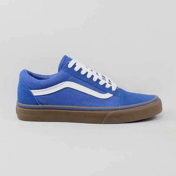 Tênis Vans Old Skool Gum Sole Azul 8213 Original