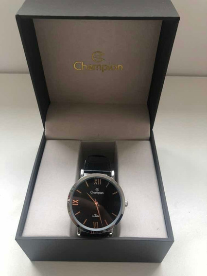 Relógio Champion Unisex - Ca21785t Slim Prateado + Caixinha