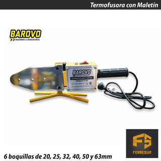 Termofusora 1500 Watts Barovo Tf15a + Pinza Universal Udovo