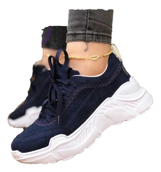 Zapatillas Tenis Plataforma Nueva Moda Para Dama 35/40