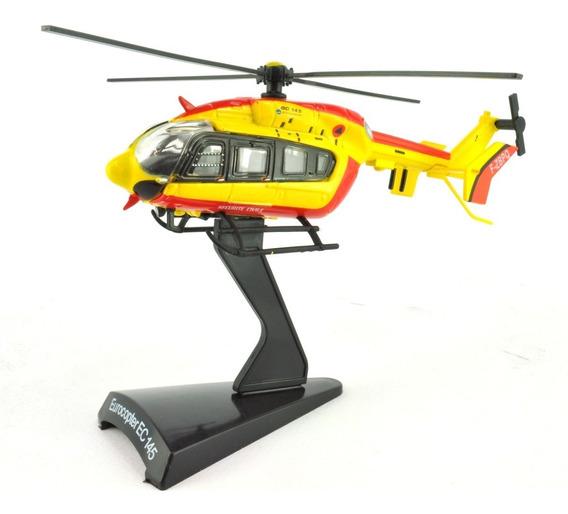 Miniatura Helicoptero Bombeiros Eurocopter Ec 145 Ec145 1/90