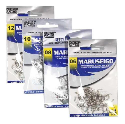Imagem 1 de 6 de 200 Anzóis Marine Sports Maruseigo Nickel 06, 08, 10 E 12