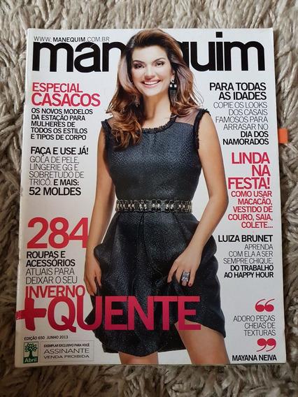 Revista Manequim Edição 650 Junho 2013 Com Moldes