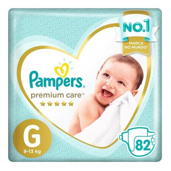 Fralda Pampers Premium Care Nova Top Tamanho G 82 Unidades