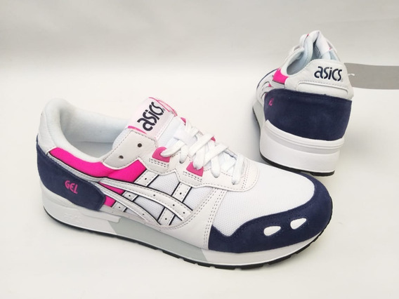 Tênis Asics Tiger Gel Lyte V Branco Rosa Original Iii Roxo