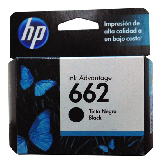 Cartucho Hp 662 Negro Original Cz103al Vigente Verificable