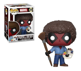 Funko Pop Deadpool As Bob Ross Bobble-head - Minijuegos
