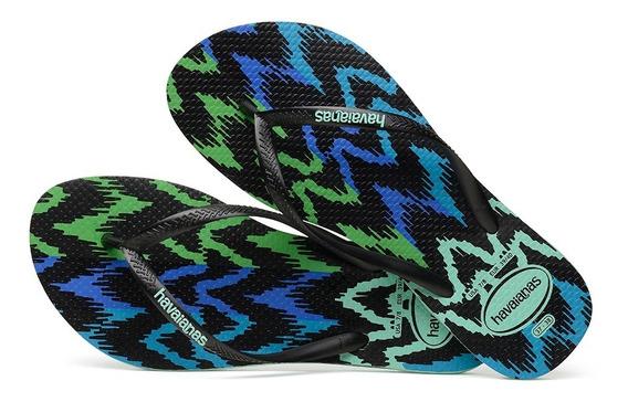 Sandálias Havaianas Chinelo Feminino Slim Tribal Verde