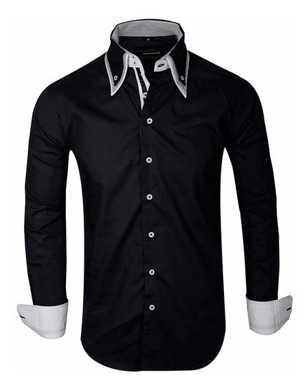 Camisas Entalladas De Vestir Slim Fit - Quality Import Usa
